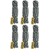 GEERTOP ガイロープ テントロープ パラコード 5mm タープ ロープ キャンプ ガイライン 6本 自在金具 アルミ