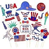 28個7月4日独立記念日愛国パーティー用品の装飾写真ブース小道具