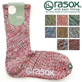 (ラソックス)rasox スプラッシュ・コットン ソックス Lサイズ(26-28cm) ブライトミックス(406)