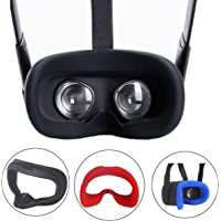 ZBRGX Oculus Quest アイマスク, Oculus Quest VR ファカカバー ,洗えるアイマスクパッド 、光漏れを防ぐ、防汗 (ブラック)