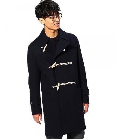 Wool Nylon Duffle Coat 1125-189-5330: Navy