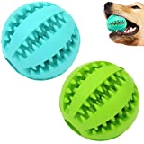 Sunglow Dog Toy Ball, Nontoxic Bite Resistant Toy Ball for Pet Dogs Puppy Cat, Dog Pet Food Treat Feeder Chew Tooth Cleaning