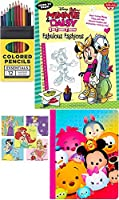 Disney Minnie & Daisy Fabulous Fashions Art Drawing Book Set & Tsum Tsumノートブック+ Colored Pencil Pack Over 200イメージプリンセス文字&ステッカー