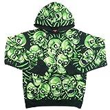 SUPREME シュプリーム 18SS Skull Pile Hooded Sweatshirt スウェットパーカー 黒緑 M 並行輸入品