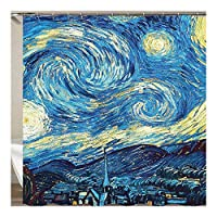 処置 デジタル印刷浴室カーテン生地厚く防水カビシャワーカーテンカスタムバス (色 : Yl0247, Size : 180*180)