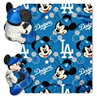 Northwest MLB × Disney ロサンゼルス・ドジャース Mickey Shaped Pillow with Fleece Throw Set -