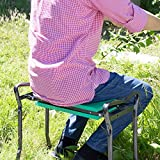 GardenHOME 2WAYガーデンチェア・庭仕事用・農作業用【椅子と膝置き2種類の使用法で効率UP・簡単持ち運び】110kgもの重量に耐える頑丈な設計