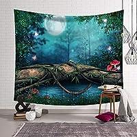 CHUNLAN おとぎ話の森タペストリーファンタジースタイルの壁掛け家の装飾の寝室とリビングルーム(153×130 cm、203×153 cm) (色 : C, サイズ さいず : 153*130cm)