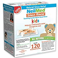 NeilMed's Sinus Rinse Pre-Mixed Pediatric Packets, 120-Count Boxes (Pack of 2)