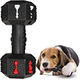 Jomilly Dog Chew Toys for Aggressive Chewers Indestructible Dog Toys Tough Natural Rubber Dumbbell Toy for Small Medium Large