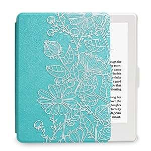 WALNEW Amazon NEW-Kindle (2016 モデル)ホワイト専用カバー NEW-Kindleホワイト用レザーケース マンドラゴラの絵 素材クリア 最も薄く、最軽量の保護 マグネット機能搭載 Kindle (Newモデル) (第8世代)専門対応ケース, マンドラゴラ