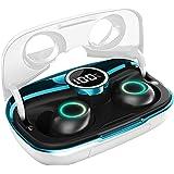 MakThing ワイヤレスイヤホン Bluetooth 5.0 第2世代【ステレオサウンド/8mmドライバー/安定性向上したTWS Plus対応/クリア通話/30時間連続再生/IPX7防水/片耳両耳通用/LEDディスプレイ/モバイルバッテリー機能/