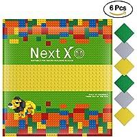 NextX ブロック クラシック 基礎板 互換性のある 大きいサイズ 両面ブロックプレート 3色6枚 32x32ポッチ