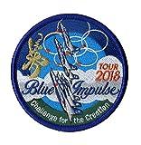 航空自衛隊 パッチ ワッペン自衛隊グッズ 航空自衛隊ブルーインパルス国産2018ツアーワッペン