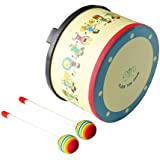 Floor Tom Drum 10 inch Gathering Club Carnival Colorful Percussion Instrument with 2 Mallets Music Drum toys for Child Specia