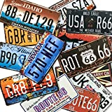 ナンバー プレート アメリカ ン 雑貨 5枚セット メタル ブリキ 看板 アンティーク レトロ 壁飾