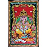 "Lord Ganesh 43"" X 30"" Tapestry"