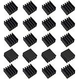 20個のミニヒートシンク8.8x8.8x5 mmアルミニウムブラック