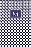 M: Monogrammed Notebook (Journal/Diary) Cottage Blue and White