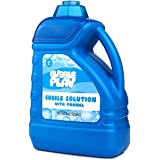 BubblePlay 64-Ounce Bubble Solution - Includes Big Bubble Wand and Easy Pour Funnel for Fun Bubble Machines, Refills, Wedding