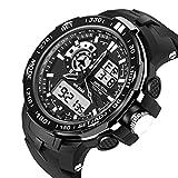 Sanda 腕時計 メンズ ビッグフェース スポーツ ファション ストップウォッチ クロノグラフ デジタル [並行輸入品]