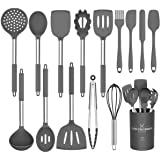 Silicone Cooking Utensil Set,Umite Chef Kitchen Utensils 15pcs Cooking Utensils Set Non-stick Heat Resistan BPA-Free Silicone