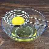 首の秀卵黄セパレータ丈夫なステンレス卵ろ過卵黄セパレータキッチンガジェット卵分の銀