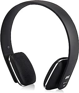August EP636 ヘッドホン ワイヤレス Bluetooth&NFC&HIFI高音質&マイク搭載 ハンズフリー通話 音楽再生 (ブラック)