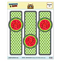 Watermelon Glossy Laminated Bookmarks - Set of 3