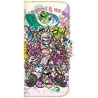 For docomo au softbank iPhone 6 ストラップホール付 jiang おしゃれ かわいい 11-ip6-ds0023 ダイアリーケース 手帳型 スマホケース イラスト Project.C.K. プロジェクトシーケー 色欲