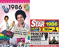 1986 Birthday Gifts Pack - Year DVD News Film , Chart Hits Music CD and Gift Greetings Card