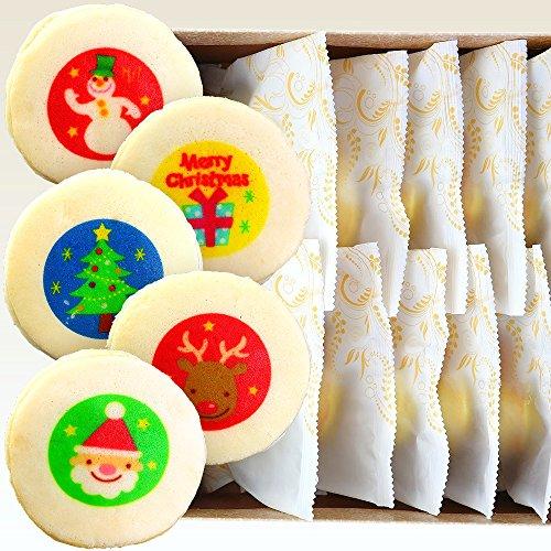 クリスマス イラスト入り もっちり白いどら焼き 10個入り