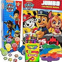 Paw Patrol 5 in 1カラーリングandアクティビティPlayセットwith Coloring Book、パズル、Stamper、クレヨンandブレスレット