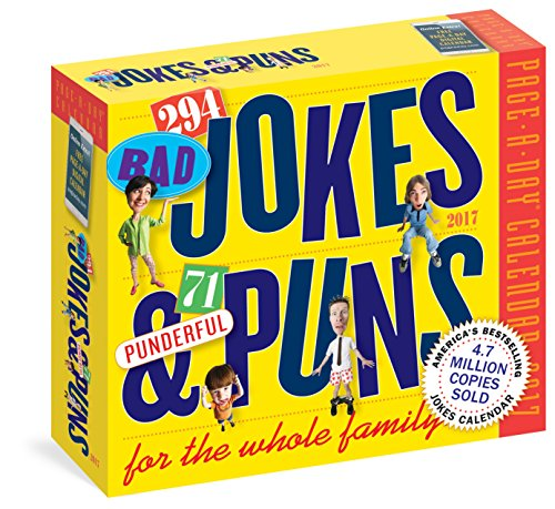 294 Bad Jokes & 71 Punderful Puns 2017 Calendar