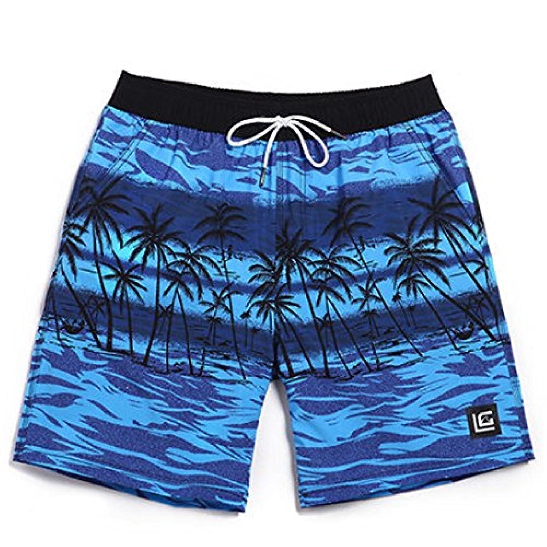 マルチサイズ ブルー メンズ水泳トランク ココプリン 内側の裏地付き 早い乾燥 (サイズ : XL)