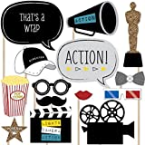 Movie - A Film in the Making - Graduation Party Photo Booth Props Kit - 20 Count