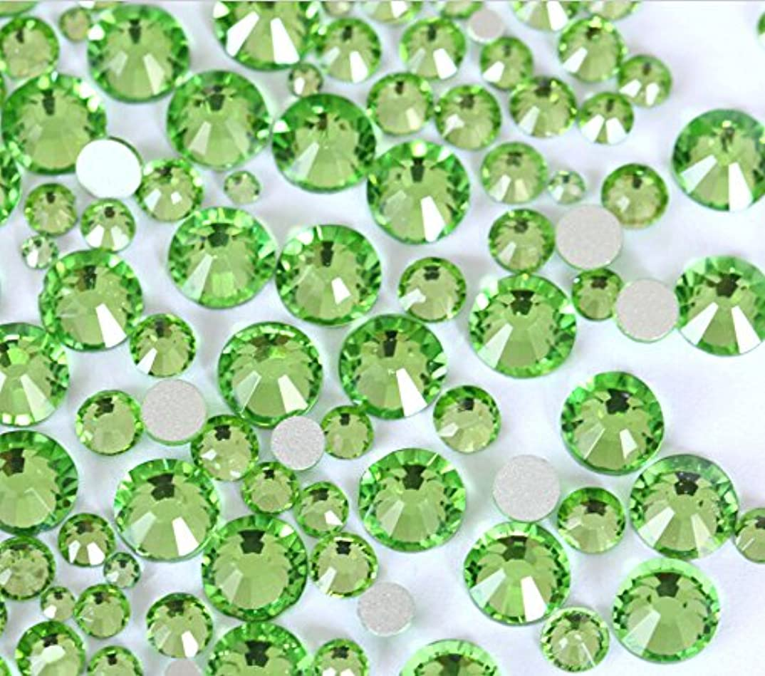 未接続誘惑幻想的peridot ペリドット ガラス製ラインストーン ネイル デコ レジンに (7.0mm (SS34) 約144粒) [並行輸入品]