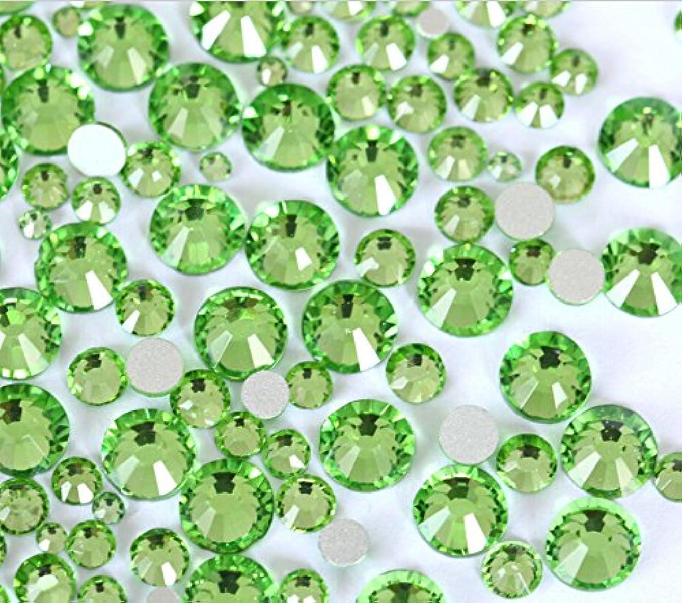 欠乏女性達成するperidot ペリドット ガラス製ラインストーン ネイル デコ レジンに (2.0mm (SS6) 約1440粒) [並行輸入品]
