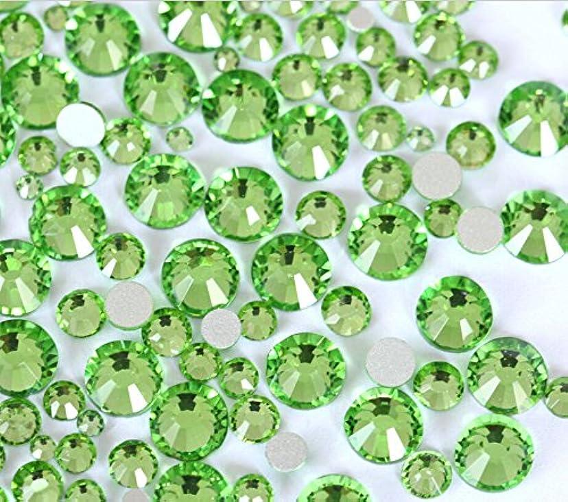 技術自体法医学peridot ペリドット ガラス製ラインストーン ネイル デコ レジンに (4.8mm (SS20) 約1440粒) [並行輸入品]
