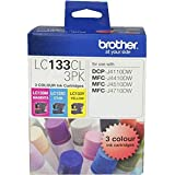 Brother Genuine LC133 Colour Ink Cartridge Value Pack, Three Pack, Includes 1 Cartridge Each of Cyan, Magenta & Yellow, Page