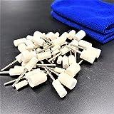 sac taske 精密 フェルトバフ 3mm軸 羊毛 円筒型 5サイズ & タオル 研磨 鏡 磨き (50)