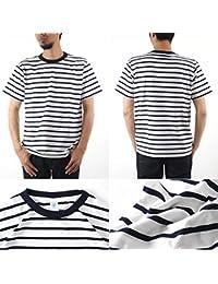 161550U ホワイト(細ボーダー) L Velva Sheen Tシャツ ボーダー クルーネック L ホワイト(細ボーダー)