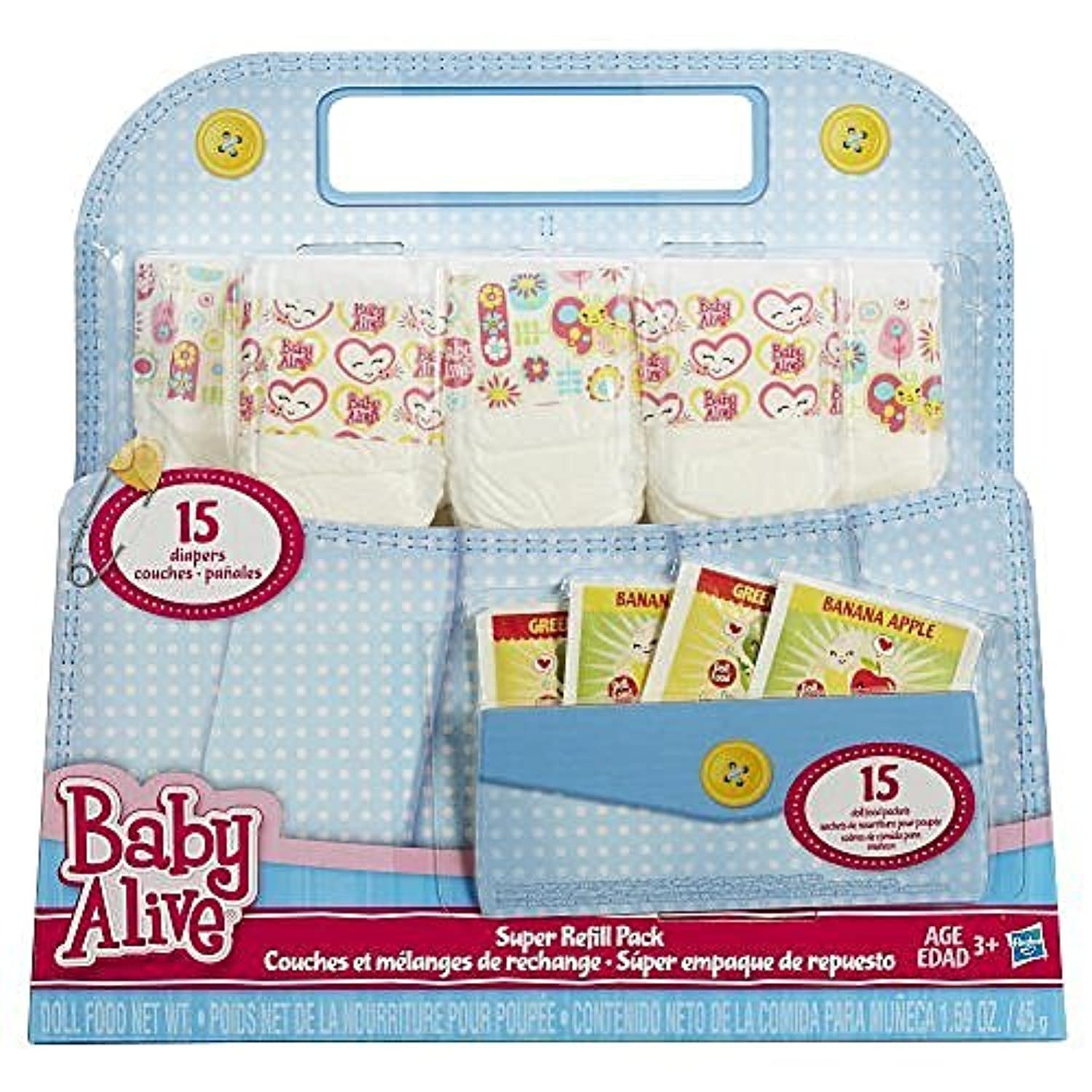 Baby Alive Doll Food and Diapers Super Refill Pack - 30 pieces [並行輸入品]