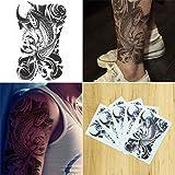 COKOHAPPY 5 枚 ブラック Koi 魚 Look リアル フラッシュ 一時的な タトゥー 入れ墨 刺青