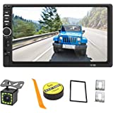 Android/iOS Mirror Link 7 inch 2 Din Capacitive Touch Screen Car Stereo in-Dash Bluetooth Car Radio Player with Rear-View Cam