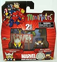 Marvel Minimates Series 42 Exclusive Mini Figure 2Pack First Appearance Thor Balder the Brave [並行輸入品]