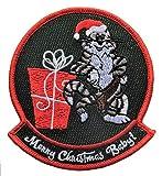 ミリタリーワッペン アメリカ軍パッチ F-14 トムキャット クリスマスver. (ベルクロ仕様) [並行輸入品]