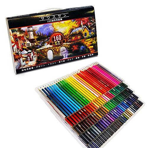 サウスサン 油性色鉛筆 カラーペン 筆ペン 塗り絵 160色 SS1110-02