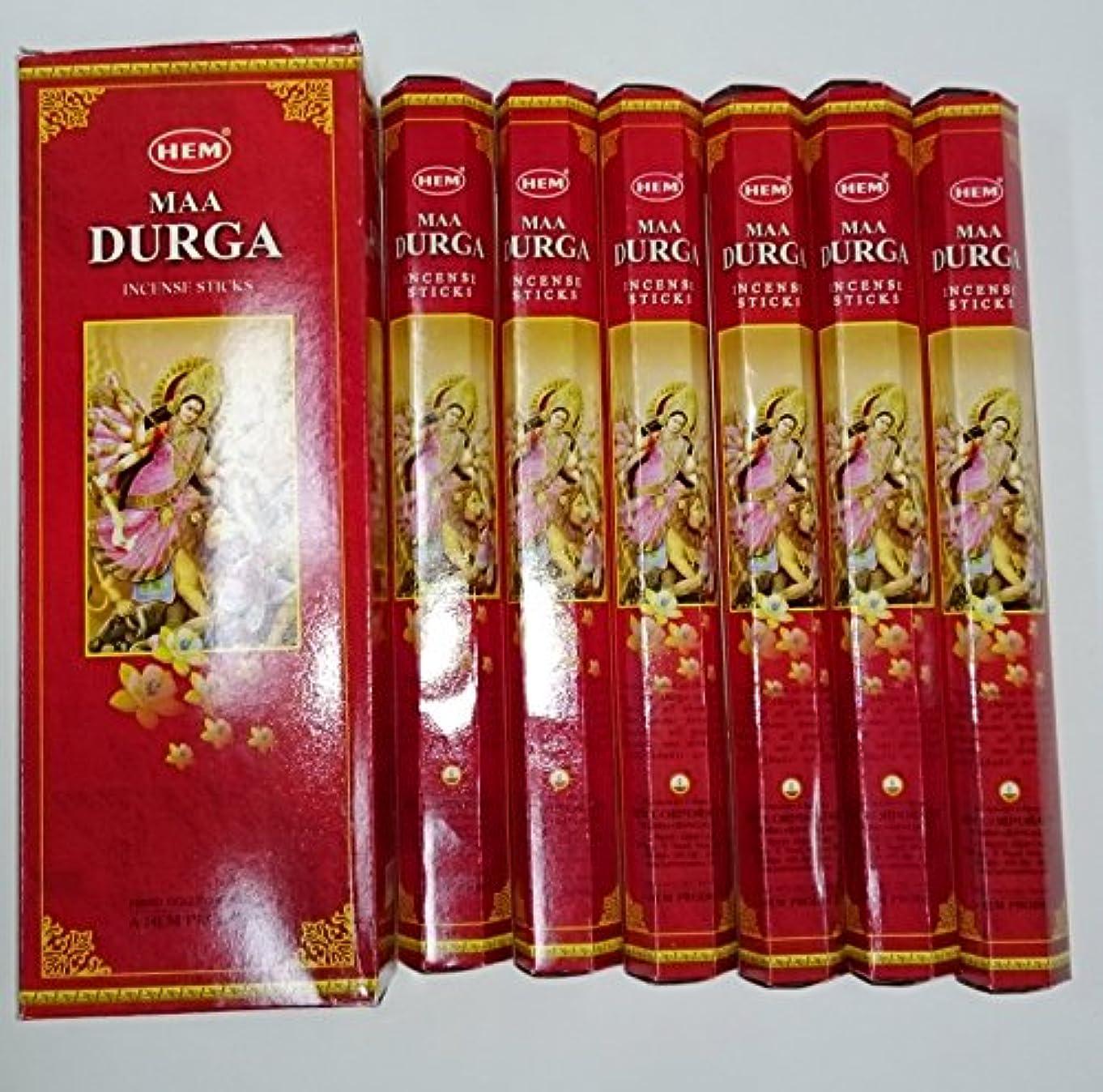 音声学デンプシー運ぶHEM(ヘム) スティックお香 六角香 ヘキサパック ドゥルガー香 6角(20本入)x6箱[並行輸入品]DURGA