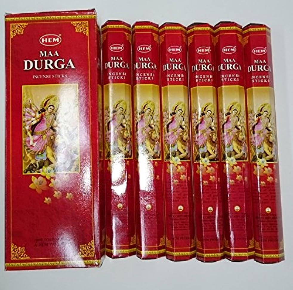 抵抗変数形状HEM(ヘム) スティックお香 六角香 ヘキサパック ドゥルガー香 6角(20本入)x6箱[並行輸入品]DURGA